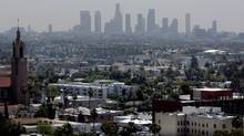 The skyline of downtown Los Angeles. (FRED PROUSER/REUTERS)