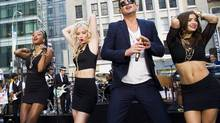 Robin Thicke performs on NBC's Today show on Tuesday, July 30, 2013 in New York. (Charles Sykes/AP)