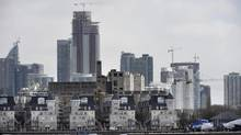 Toronto's cityscape is seen from the waterfront near Ontario Place Blvd on March 24, 2014. (Fred Lum/The Globe and Mail)