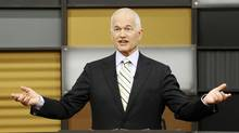 New Democratic Party leader Jack Layton takes part in a televised English language debate in Ottawa, April 12, 2011. (CHRIS WATTIE/Chris Wattie/AFP/Getty Images)