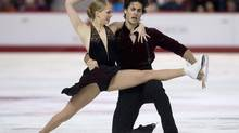 Kaitlyn Weaver Andrew Poje perform their free program in dance competition at the Canadian Skating Championships Saturday January 11, 2014 in Ottawa. (Adrian Wyld/THE CANADIAN PRESS)