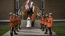 Bob Paulson apologized and will reimburse taxpayers for on-duty Mounties who performed honour guard at his Aug. 16 wedding to Erin O'Gorman at St. Elizabeth Catholic Church in Ottawa. (Betty Cooper/Sugarbush Studio)