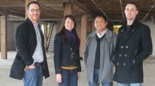 Startup Edmonton founders and employees, from left, Sam Jenkins, Tiffany Linke-Boyko, Ken Bautista, and Cam Linke. (COURTESY OF STARTUP EDMONTON)