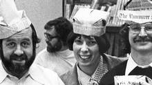 Members of the night shift editorial staff at the Vancouver Sun news room in the mid 70's. (Handout/Handout)
