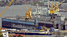 The Irving-owned Halifax Shipyard, showin in 2010, is one of three firms in the running for $35-billion in federal contracts. (Andrew Vaughan/THE CANADIAN PRESS)