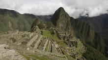 View of the Machu Picchu archeological site in Cuzco, Peru Friday, Jan. 29, 2010. (Martin Mejia/AP)