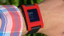Pebble started shipping product in early 2013, after first running the most successful Kickstarter crowdfunding campaign ever, raising $10-million. (Pebble)