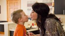 """This undated image released by Lifetime shows Bristol Palin, daughter of former Republican vice presidential candidate and Alaska Gov. Sarah Palin, and her son Tripp, during the filming of her series, """"Bristol Palin: Life's A Tripp."""" (Richard Knapp/Richard Knapp / AP)"""