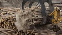 Canada's forest products industry, and particularly lumber exporters, have it good right now, but a weak loonie could prompt U.S. competitors to push for higher tariffs. (David Ryder/Bloomberg)