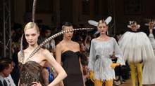 Models present creations by French designer Alexis Mabille during the Fall/Winter 2011-2012 Haute Couture collection show on July 4, 2011 in Paris. (PIERRE VERDY/PIERRE VERDY /AFP/Getty Images)