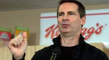 Ontario Liberal Leader Dalton McGuinty makes a campaign stop at a Kellogg's factory in Belleville on Sept. 21, 2011. (Lars Hagberg/THE CANADIAN PRESS)