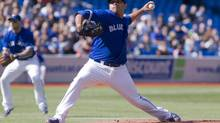 Toronto Blue Jays starting pitcher Ricky Romero works against the New York Yankees during the first inning of MLB American League action in Toronto on Saturday, September 29, 2012. (Chris Young/THE CANADIAN PRESS)