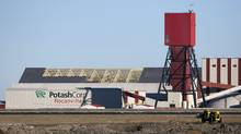 The exterior of the Potash Corp. Rocanville potash plant on Nov. 3, 2010, near Rocanville, Sask. (REUTERS/David Stobbe)