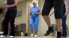 Jane Northey, 76, dances at Mapleridge Recreation Centre in Peterborough, Ontario on Monday May 7, 2012. THE CANADIAN PRESS/Frank Gunn (Frank Gunn/Frank Gunn/THE CANADIAN PRESS)