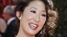 Actress Sandra Oh arrives at the 60th Primetime Emmy Awards in Los Angeles, Sunday, Sept. 21, 2008. (Matt Sayles/AP2008)