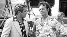 Television personality Larry Solway interviews camp counselor Bill Murray as seen in this Paramount Pictures' Meatballs publicity handout photo. (The Canadian Press)