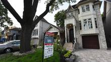 Two story detached homes on Manor Rd. in Toronto on August 31 2015. (Fred Lum/The Globe and Mail) (Fred Lum/The Globe and Mail)