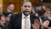 FILE PHOTO: NDP Leader Tom Mulcair rises during Question Period in the House of Commons on Parliament Hill in Ottawa, Wednesday Feb.6, 2013 . (Adrian Wyld/The Canadian Press)