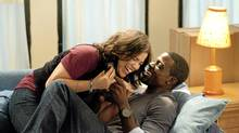 America Ferrera and Lance Gross in Our Family Wedding. (Scott Garfield)