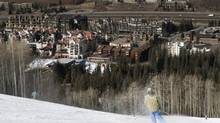 A skier near the end of their run in Vail, Colo. (SETH KUGEL/NYT)