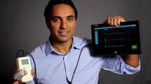 Sonny Kohli's team, Cloud DX, is in the race to develop a portable medical device that can check vital signs and diagnose diseases. (HO/THE CANADIAN PRESS)