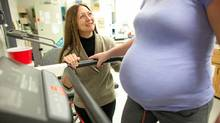 Michelle Mottola talks with an expectant mom in the Exercise and Pregnancy Lab at the University of Western Ontario October 28, 2011. (GEOFF ROBINS/Geoff Robins/The Globe and Mail)