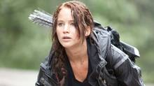 """Jennifer Lawrence as Katniss Everdeen in a scene from """"The Hunger Games"""" (Murray Close/AP)"""