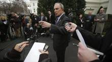 New York Mayor Michael Bloomberg met with the medial after a meeting in Washington last month. (Pablo Martinez Monsivais/The Associated Press)