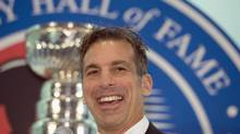 Chris Chelios, who will be inducted into the Hall of Fame in Toronto on Monday, says of the honour, 'I never thought I'd make the NHL, so this is crazy.' (FRANK GUNN/THE CANADIAN PRESS)