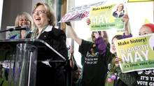 Green Party leader Elizabeth May (DEDDEDA STEMLER/THE CANADIAN PRESS)