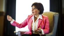 Premier Christy Clark during her year-end interview with the Globe and Mail in Victoria, December 9, 2013. (John Lehmann/The Globe and Mail)