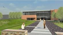 CSE Communications Security Establishment - This architectural rendering shows the Mid-Term Accomodation building which will be completed in 2011 at CSE's new campus at Blair - Ogilvie Rd in Ottawa. (CSE handout/CSE handout)