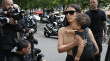 TV personality Kim Kardashian recently identified herself as an attachment mom. (GONZALO FUENTES/REUTERS)