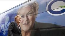 Parti Québécois Leader Pauline Marois campaigns in Joliette, Que., on Aug. 1, 2012. (Christinne Muschi/REUTERS)