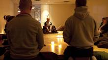 Group meditation at Chopra Yoga Center in Toronto. (Matthew Sherwood for The Globe and Mail)