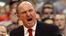 Ohio State coach Thad Matta yells at his players during the second half of an NCAA college basketball game against Purdue, Tuesday, Feb. 7, 2012, in Columbus, Ohio. (Terry Gilliam/Associated Press)