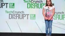Alexandra Jordan, 9, presents during the TechCrunch Disrupt SF 2013 Hackathon inside The Concourse at San Francisco Design Center on September 8, 2013 in San Francisco, California. (Jeff Bottari/TechCrunch/Flickr Creative Commons)