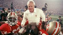 The late San Francisco 49ers coach Bill Walsh was a superboss who produced almost twice as many active NFL coaches from his players and assistants as the next most prolific talent spawner. (AP)