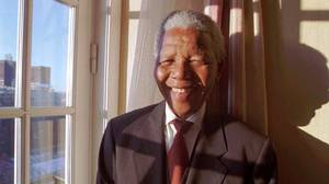 Nelson Mandela, photographed in Oslo in 1993.
