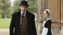 Downton Abbey co-stars Brendan Coyle, left, and Joanne Froggatt. (Nick briggs)