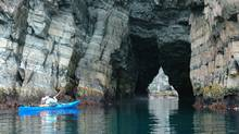One of the sea arches in Cape Broyle, Newfoundland, image from the Stan Cook website.
