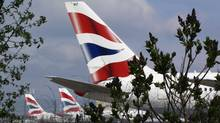British Airways aircraft sit parked at Heathrow airport in London after hundreds of flights were cancelled because of ash spewed by a volcanic eruption in Iceland. (Kirsty Wigglesworth/Kirsty Wigglesworth/AP)