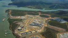 Australia Pacific LNG's export terminal on Queensland's Curtis Island. The first LNG ship will be arriving in mid-2015. (Australia Pacific LNG)
