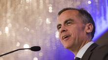 Mark Carney, the Governor of the Bank of Canada, delivers a speech Wednesday to the Vancouver Board of Trade. (BEN NELMS/REUTERS)