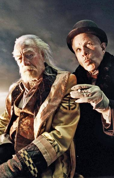 Christopher Plummer and Tom Waits in The Imaginarium of Doctor Parnassus (2009). (Courtesy of E1 Entertainment)