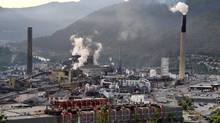 Smelting and processing operations take place at the Teck Cominco Ltd. plant in Trail, British Columbia, Canada, on Thursday, July 3, 2008. Teck Cominco Ltd., is the world's second-biggest zinc producer. (UDO WEITZ/BLOOMBERG NEWS)