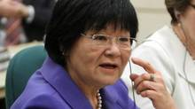 International Co-operation Minister Bev Oda appears before a Commons committee weighing contempt charges against her on March 18, 2011. (FRED CHARTRAND/THE CANADIAN PRESS)