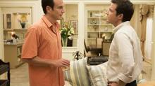 """This undated publicity photo released by Netflix shows Will Arnett, left, and Jason Bateman in a scene from """"Arrested Development,"""" premiering May 26, 2013 on Netflix. (AP Photo/Netflix, Michael Yarish) (Michael Yarish/AP)"""