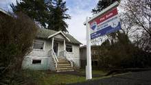 A house with an asking price of $2.4-million is pictured during an open house in Vancouver on Feb. 2, 2015. (Ben Nelms For The Globe and Mail)
