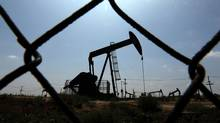 Oil pumps at work on an oilfield in Los Angeles on May 12, 2009.